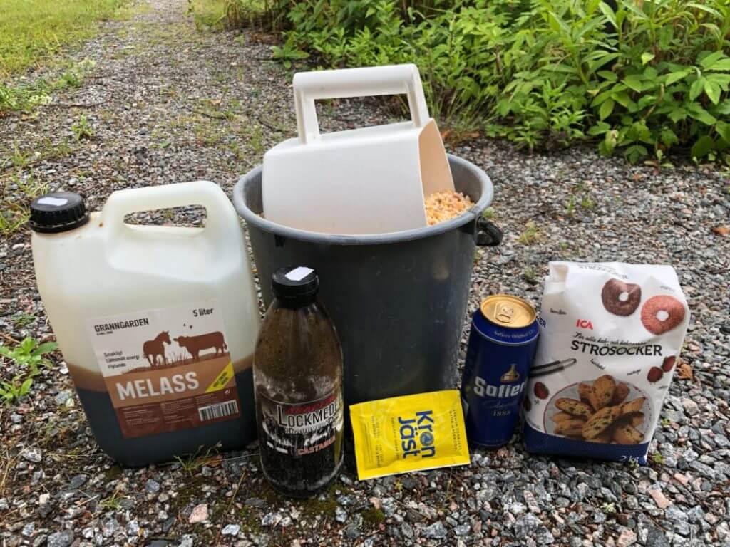 Ingredienser till en majsbomb