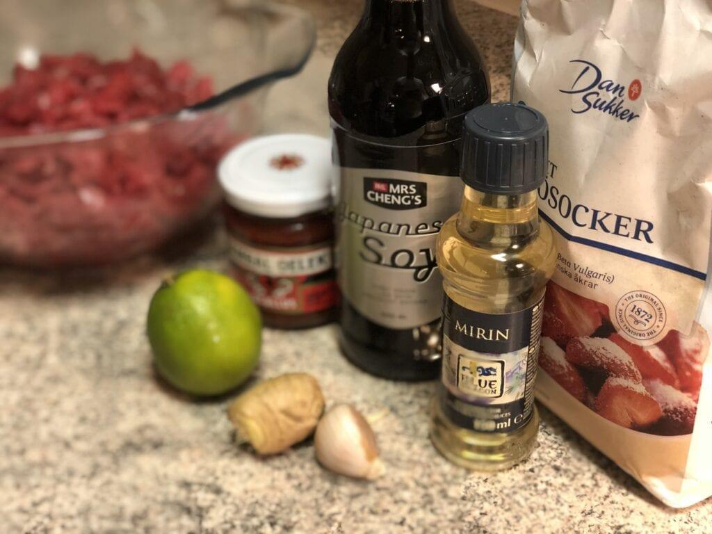 ingredienser till Yakiniku